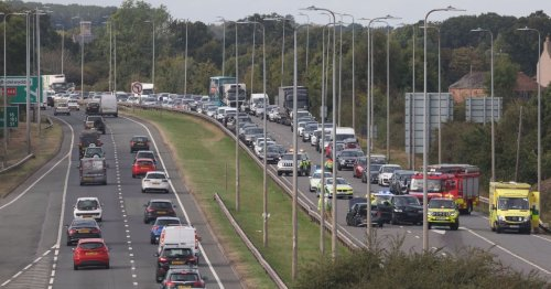 Two hurt as A55 accident sparks traffic delays