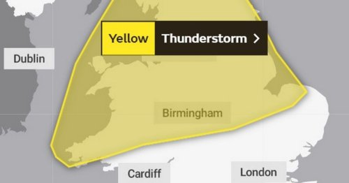 Met Office says thunderstorms could cause flooding as weather warning issued