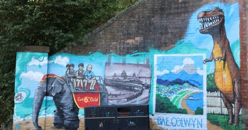 Graffiti artist brings Colwyn Bay's past back to life, but not everyone is happy