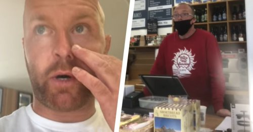 Man films moment Welsh holiday park refuses to serve him indoors in mask dispute