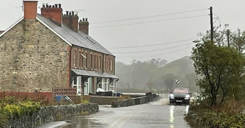 Flooding leaves trail of road and road closures across North Wales