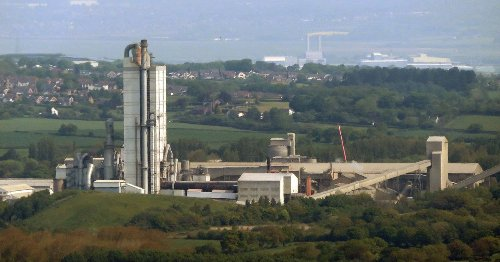 Fire at cement works as people told to keep windows and doors shut - live