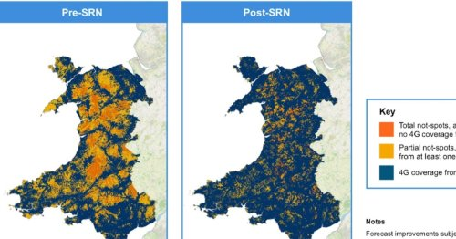 See where 4G coverage is set to improve in North Wales
