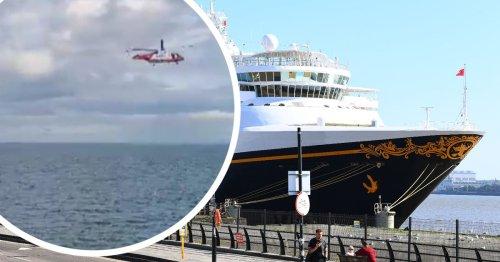 Coastguard helicopter transports Disney Magic cruise ship casualty to hospital