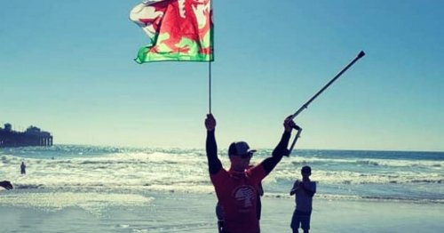 Amputee surfer who lost leg as teen flies flag for Wales in California contest