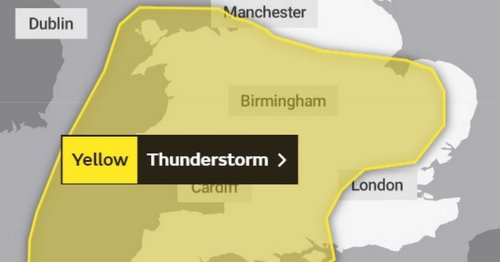 Met Office warns of flooding and disruption as thunderstorm alert issued