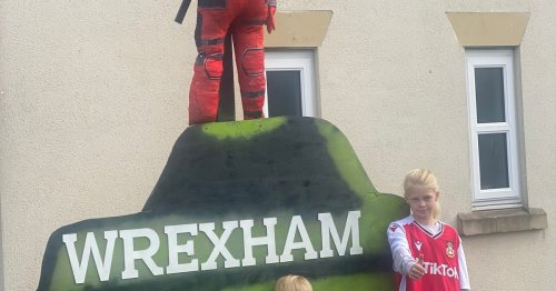 The amazing Deadpool Scarecrow that's creating a stir in a North Wales village