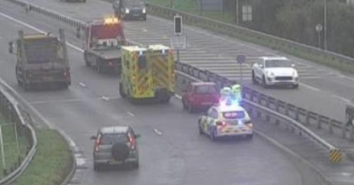 Long delays for A55 drivers as emergency services deal with crash - live