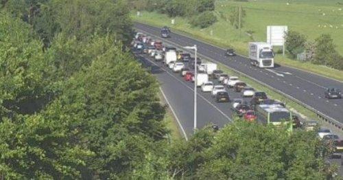 Delays for motorists on A55 near Caerwys following crash - live