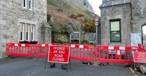 Scenic road around Llandudo's Great Orme closed after rockfall