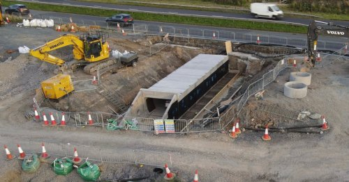 What new road beside A55 is for and the hidden tunnels being built underneath it