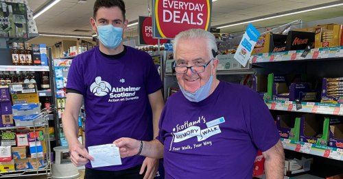 Shop worker raises hundreds of pounds for Alzheimer Scotland in memory of mother