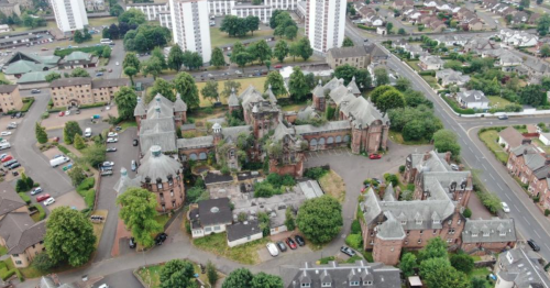 Massive abandoned care home in middle of Scots town goes up for sale