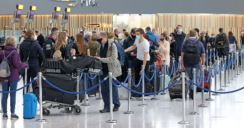 Airport chaos as passengers stand next to UK arrivals 'from red list' for hours