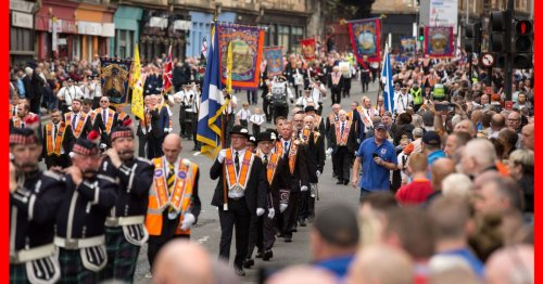 'Racist and sectarian singing' at Orange Walk in Glasgow as police make arrests
