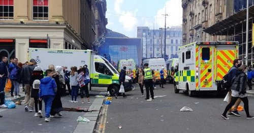 Emergency services race to ongoing incident on Queen Street near George Square