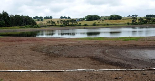 Months of hot weather and the lack of rain have done this to the water supply of Scotland's biggest town