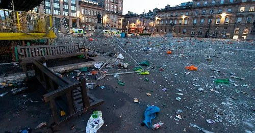 Memorial benches in George Square smashed for second time in matter of months