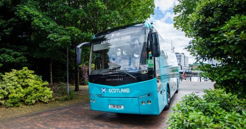 Steve Clarke laughs at mad Scotland bus journey scenes