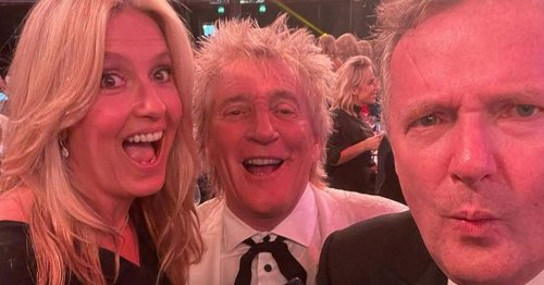 Piers Morgan 'arrested' by Rod Stewart's wife Penny Lancaster while partying