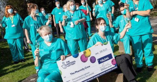 Hospital staff lottery syndicate wins more than £100,000 on EuroMillions