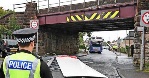 Bus driver admits charge after he crashed into low bridge in Wishaw