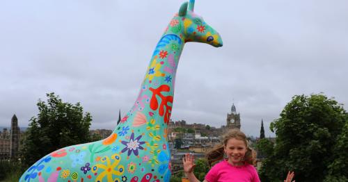 Edinburgh Zoo announces new city-wide Giant Giraffe sculpture trail