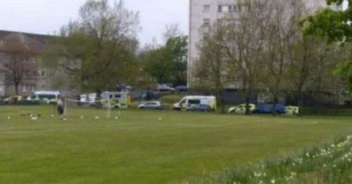 'Stabbings' in Glasgow park leave two in hospital as cops race to scene