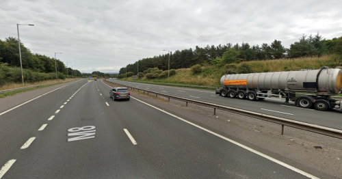 M8 closed both ways due to 'police incident' as emergency services race to scene