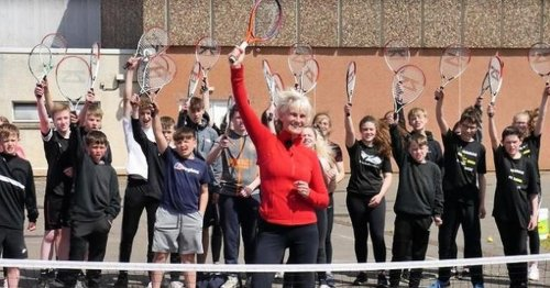 Judy Murray's new online tennis project a hit with Perth pupils