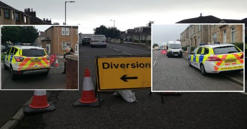 Houses 'sink' on Scots street forcing residents to scramble to safety