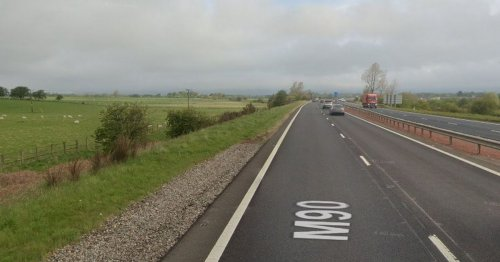 Fire crews cut person from wreckage of M90 crash near Kinross