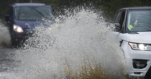 Both lanes of busy Scots motorway flooded after weather warnings