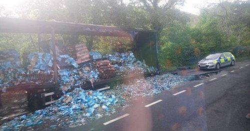 Booze raiders steal Blue WKD bottles worth £280k before fleeing in tractors