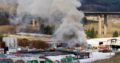 Firefighters tackle massive fire at Scots recycling yard