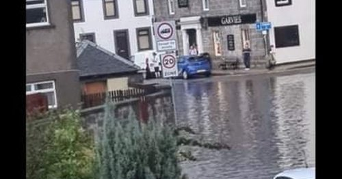 Streets of Scots town flooded as country hit by heavy downpours