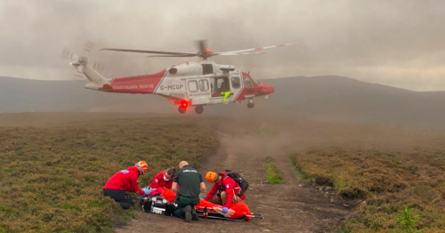 Mountain biker airlifted to hospital with 'serious injuries' in Scottish Borders