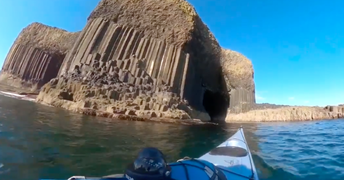 Scots sea kayaker captures stunning footage of Fingal's Cave on Staffa