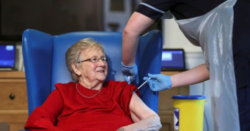 Lanarkshire's first care home resident to receive COVID-19 jab gets booster
