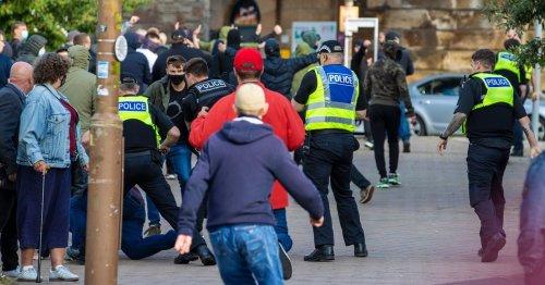 Street rammy breaks out near Tynecastle stadium ahead of Hearts v Celtic clash