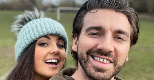 Kerr Okan and fiancée Storm admit to being 'that couple' in matching outfits