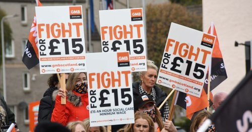 Scots care workers calling for £15 an hour wage to solve NHS crisis