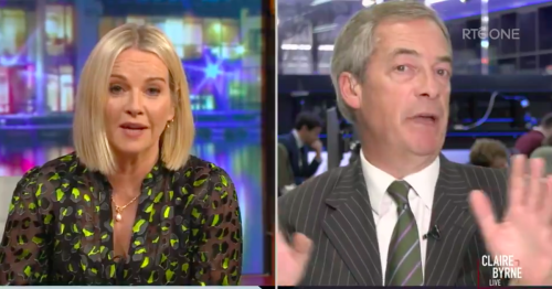 Nigel Farage dismantled by Irish TV presenter over his knowledge of Ireland