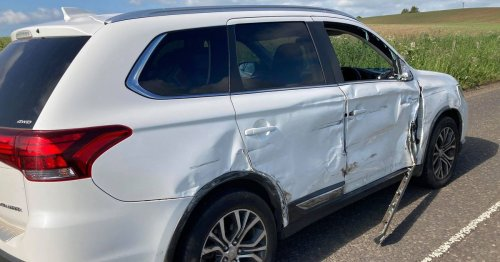 Scots girl, 5, 'shaken' after maniac hit and run driver slams into family car
