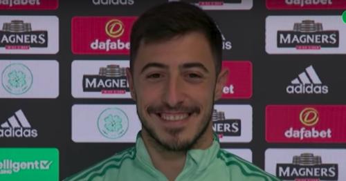 Smirking Josip Juranovic jokes about being top Celtic scorer while on penalties