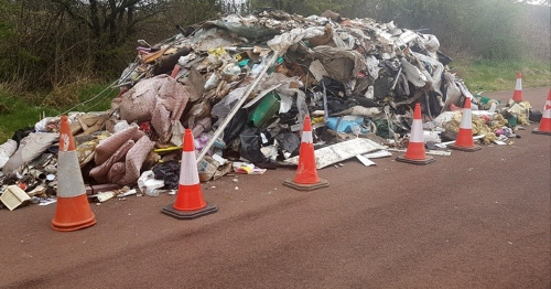 'Shameful' fly-tippers blasted as rubbish mountain dumped on Scots road