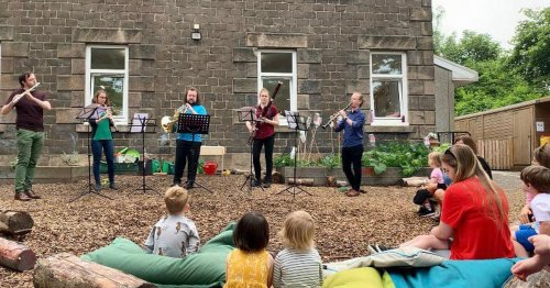 West Lothian nursery children visited by live professional musicians