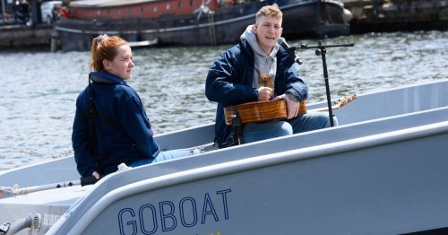 Scots sea shanty star Nathan Evans performs live on Thames and teases Brits gig