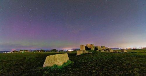 Falkirk photographer captures moment northern lights lit up sky