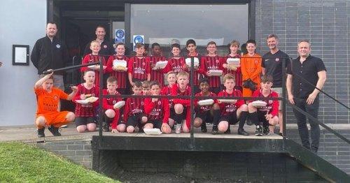 Lanarkshire chippy are on the ball with sponsorship of kids football team